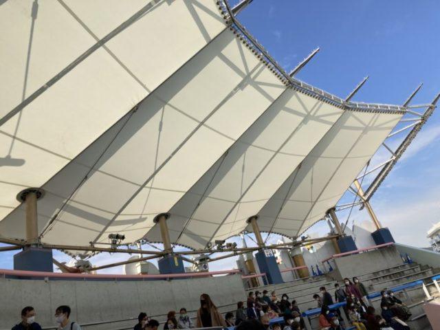 須磨水族館イルカライブ館 屋根